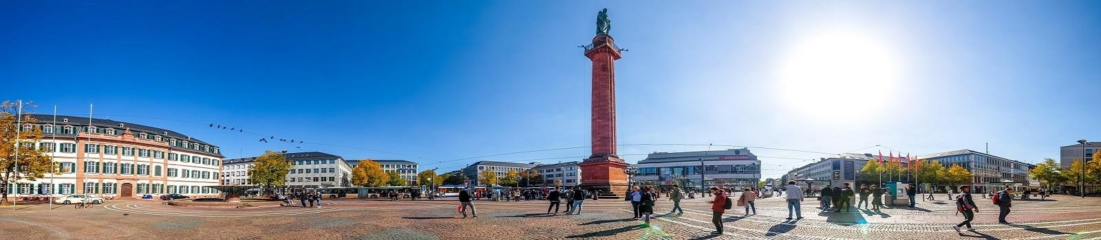 Blick über den Luisenplatz in Darmstadt