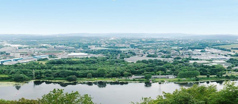 Blick über Dortmund mit Ruhr